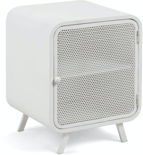 På billedet ser du variationen Rita, Sengebord, Metal fra brandet LaForma i en størrelse H: 54 cm. B: 42 cm. L: 38 cm. i farven Hvid