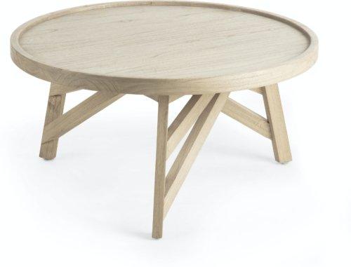 På billedet ser du variationen Tenda, Sofabord fra brandet LaForma i en størrelse H: 42 cm. B: 81 cm. L: 81 cm. i farven Natur