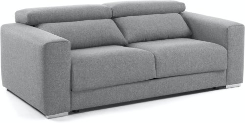På billedet ser du variationen Atlanta, 3-personers sofa fra brandet LaForma i en størrelse H: 76 cm. B: 210 cm. L: 108 cm. i farven Grå