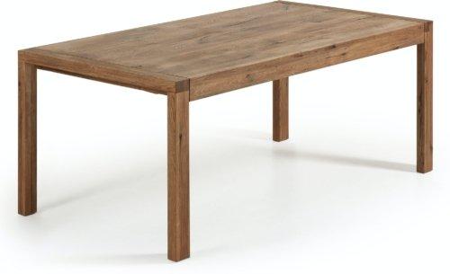 På billedet ser du variationen Briva, Udtrækkeligt spisebord, Egetræ fra brandet LaForma i en størrelse H: 77 cm. B: 180 cm. L: 90 cm. i farven Natur
