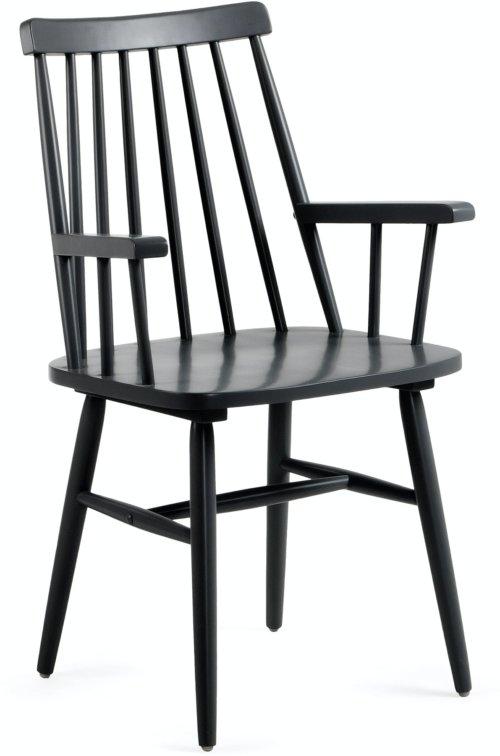 På billedet ser du variationen Tressia, Spisebordsstol m. armlæn fra brandet LaForma i en størrelse H: 87 cm. B: 53 cm. L: 51 cm. i farven Sort