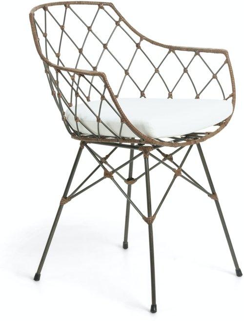 På billedet ser du variationen Endora, Spisebordsstol m. armlæn fra brandet LaForma i en størrelse H: 82 cm. B: 63 cm. L: 59 cm. i farven Sort/natur