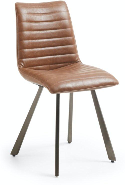 På billedet ser du variationen Trash, Spisebordsstol fra brandet LaForma i en størrelse H: 87 cm. B: 46 cm. L: 60 cm. i farven Brun/sølv