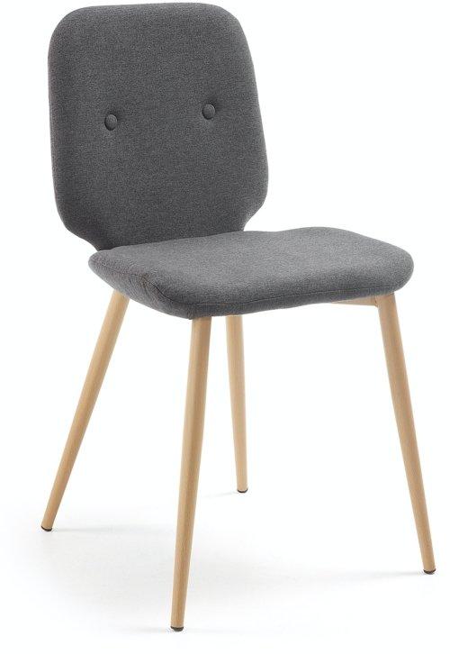 På billedet ser du variationen Meet, Spisebordsstol fra brandet LaForma i en størrelse H: 84 cm. B: 48 cm. L: 56 cm. i farven Sort/natur