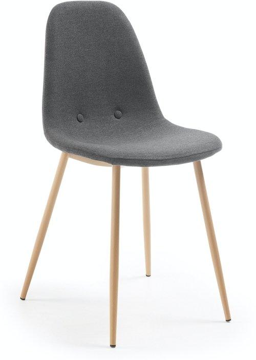 På billedet ser du variationen Yaren, Spisebordsstol fra brandet LaForma i en størrelse H: 88 cm. B: 46 cm. L: 50 cm. i farven Sort/natur