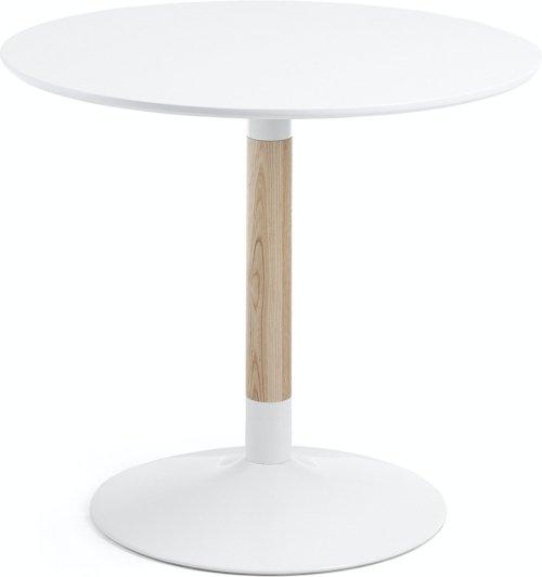 På billedet ser du variationen Trick, Spisebord fra brandet LaForma i en størrelse H: 75 cm. B: 90 cm. L: 90 cm. i farven Hvid/natur