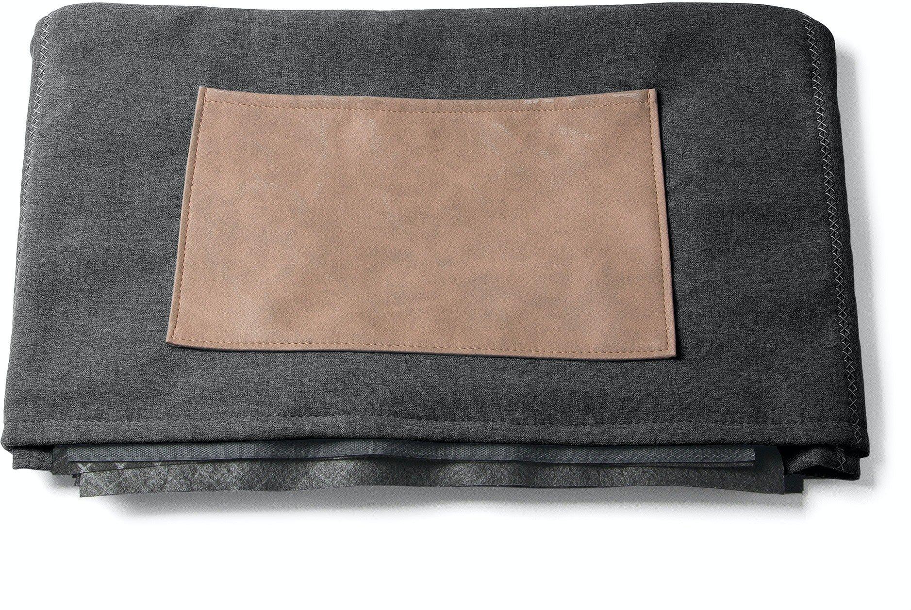Kos, Pouf sengebetræk by LaForma (H: 40 cm. B: 70 cm. L: 60 cm., Mørkegrå)