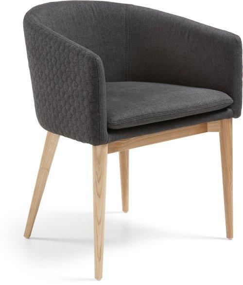 På billedet ser du variationen Harlan, Spisebordsstol m. armlæn fra brandet LaForma i en størrelse H: 74 cm. B: 52 cm. L: 57 cm. i farven Sort/natur