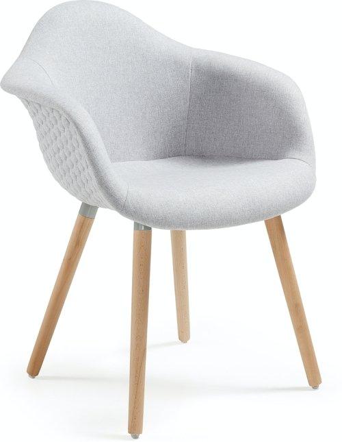 På billedet ser du variationen Kevya, Spisebordsstol m. armlæn fra brandet LaForma i en størrelse H: 81 cm. B: 62 cm. L: 61 cm. i farven Beige/natur