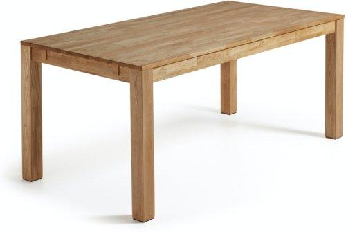 På billedet ser du variationen Isbel, Udtrækkeligt spisebord, Egetræ fra brandet LaForma i en størrelse H: 75 cm. B: 120 cm. L: 75 cm. i farven Natur