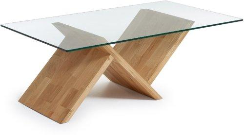 På billedet ser du variationen Waley, Sofabord fra brandet LaForma i en størrelse H: 42 cm. B: 120 cm. L: 70 cm. i farven Natur/klar