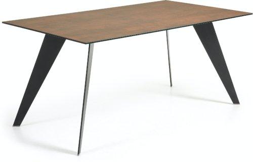 På billedet ser du variationen Koda, Spisebord, Keramik fra brandet LaForma i en størrelse H: 75 cm. B: 160 cm. L: 90 cm. i farven Brun/sort