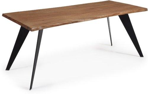 På billedet ser du variationen Koda, Spisebord, Træ fra brandet LaForma i en størrelse H: 78 cm. B: 180 cm. L: 100 cm. i farven Natur/sort