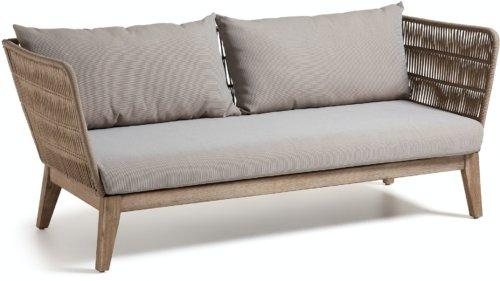 På billedet ser du variationen Belleny, Udendørs 3-personers sofa fra brandet LaForma i en størrelse H: 70 cm. B: 176 cm. L: 80 cm. i farven Beige/natur/grå