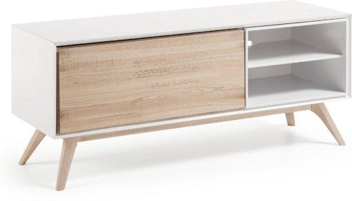På billedet ser du variationen Eunice, TV-bord fra brandet LaForma i en størrelse H: 56 cm. B: 134 cm. L: 45 cm. i farven Hvid/natur