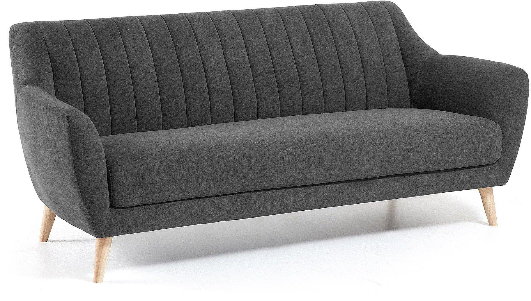 Obo, 3-personers sofa by LaForma (H: 81 cm. B: 190 cm. L: 81 cm., Grå/Natur)