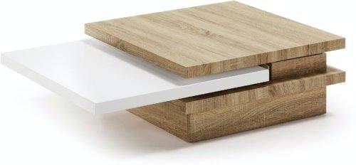 På billedet ser du variationen Kiu, Sofabord fra brandet LaForma i en størrelse H: 30 cm. B: 106 cm. L: 70 cm. i farven Natur/hvid