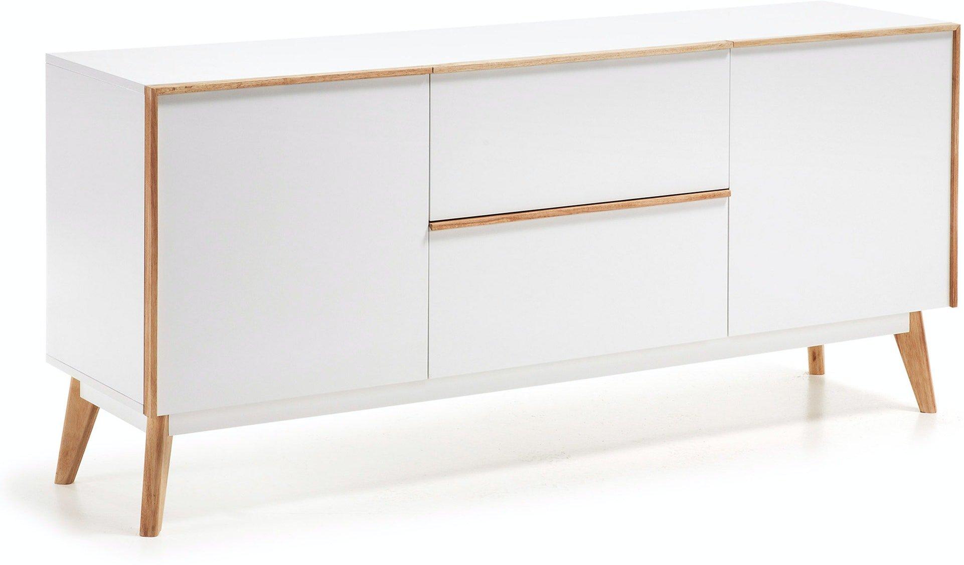 Melan, Skænk, Hvid by LaForma (H: 72 cm. B: 160 cm. L: 42.5 cm., Hvid/Natur)