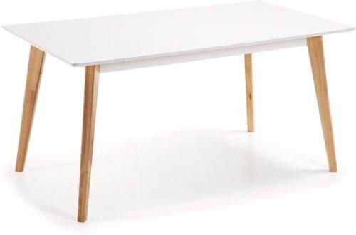 På billedet ser du variationen Melan, Spisebord fra brandet LaForma i en størrelse H: 77 cm. B: 160 cm. L: 90 cm. i farven Hvid/natur