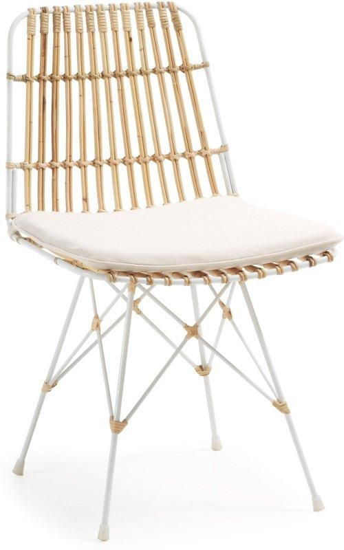 På billedet ser du variationen Ainisa, Spisebordsstol fra brandet LaForma i en størrelse H: 80 cm. B: 47 cm. L: 54 cm. i farven Natur/hvid