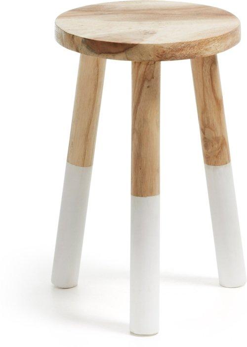 På billedet ser du variationen Brocsy, Barstol fra brandet LaForma i en størrelse H: 44 cm. B: 30 cm. L: 30 cm. i farven Natur/hvid