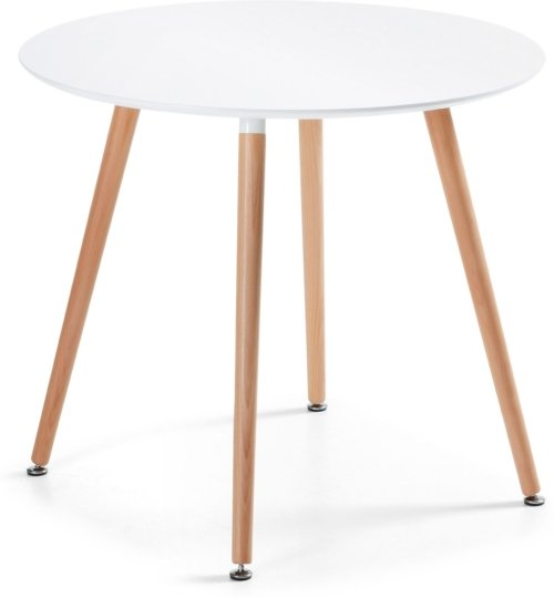 På billedet ser du variationen Wad, Spisebord fra brandet LaForma i en størrelse H: 73 cm. B: 100 cm. L: 100 cm. i farven Hvid/natur