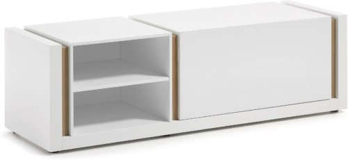 På billedet ser du variationen De, TV-bord fra brandet LaForma i en størrelse H: 42 cm. B: 140 cm. L: 45 cm. i farven Hvid/natur