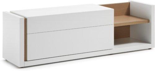 På billedet ser du variationen De, TV-bord fra brandet LaForma i en størrelse H: 52 cm. B: 170 cm. L: 45 cm. i farven Hvid/natur