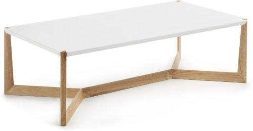 På billedet ser du variationen Quatro, Sofabord fra brandet LaForma i en størrelse H: 35 cm. B: 120 cm. L: 60 cm. i farven Natur/hvid