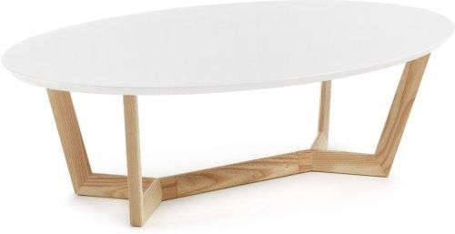 På billedet ser du variationen Wave, Sofabord fra brandet LaForma i en størrelse H: 35 cm. B: 120 cm. L: 70 cm. i farven Hvid/natur