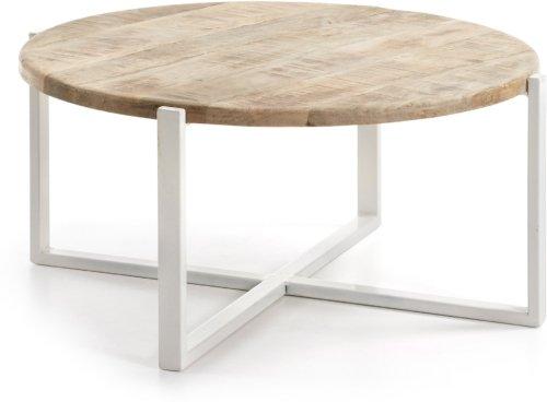 På billedet ser du variationen Mawenzi, Sofabord fra brandet LaForma i en størrelse H: 40 cm. B: 90 cm. L: 90 cm. i farven Natur/hvid