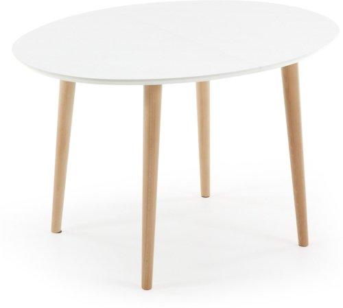 På billedet ser du variationen Oqui, Udtrækkeligt spisebord fra brandet LaForma i en størrelse H: 74 cm. B: 120 cm. L: 90 cm. i farven Hvid/natur