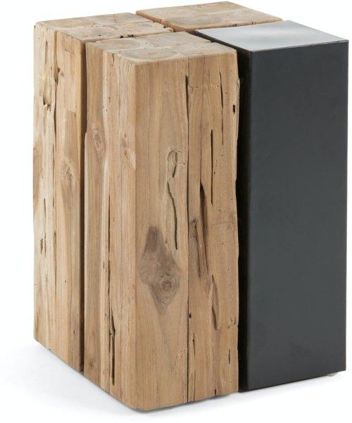 På billedet ser du variationen Kwango, Sidebord, Teaktræ fra brandet LaForma i en størrelse H: 42,5 cm. B: 29 cm. L: 29 cm. i farven Natur/sort