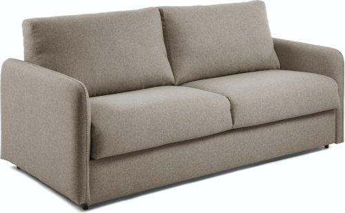 På billedet ser du variationen Kymoon, 2-personers sovesofa, Stof fra brandet LaForma i en størrelse H: 92 cm. B: 182 cm. L: 95 cm. i farven Brun