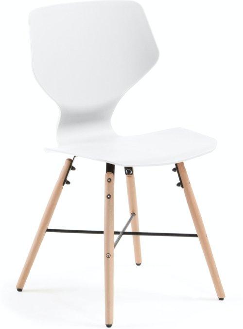 På billedet ser du variationen Witney, Spisebordsstol fra brandet LaForma i en størrelse H: 83 cm. B: 47 cm. L: 48 cm. i farven Hvid/natur