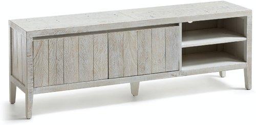På billedet ser du variationen Words, TV-bord, Genbrugstræ fra brandet LaForma i en størrelse H: 55 cm. B: 160 cm. L: 40 cm. i farven Hvid/natur