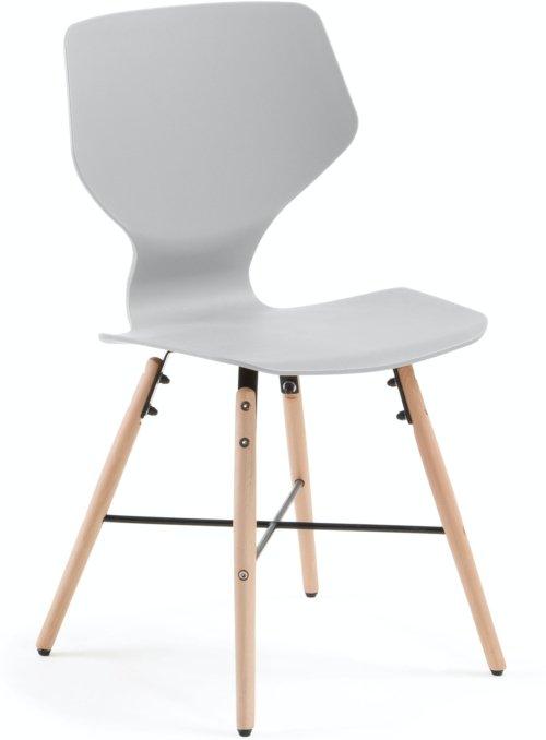 På billedet ser du variationen Witney, Spisebordsstol fra brandet LaForma i en størrelse H: 83 cm. B: 47 cm. L: 48 cm. i farven Grå/natur