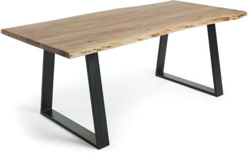 På billedet ser du variationen Alaia, Spisebord fra brandet LaForma i en størrelse H: 76 cm. B: 200 cm. L: 95 cm. i farven Natur/sort