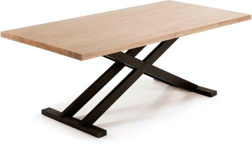 På billedet ser du variationen Tiva, Spisebord fra brandet LaForma i en størrelse H: 77 cm. B: 160 cm. L: 90 cm. i farven Natur/sort