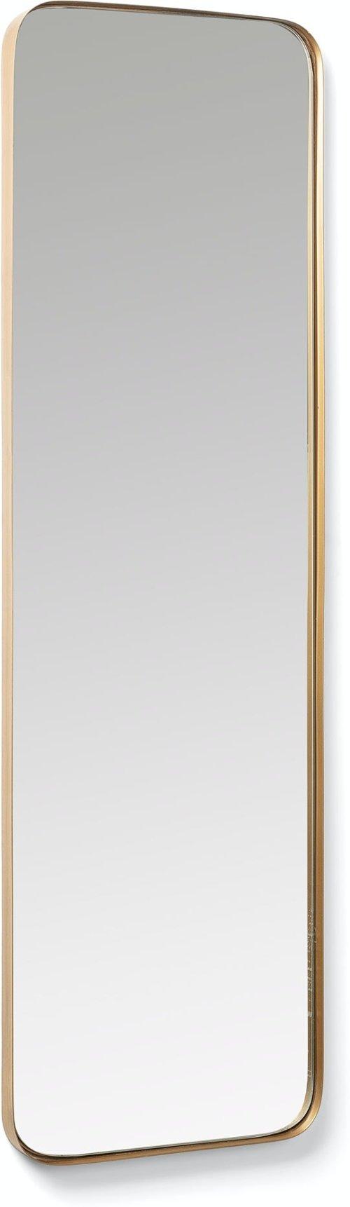 På billedet ser du variationen Marco, Vægspejl fra brandet LaForma i en størrelse H: 100 cm. B: 30 cm. L: 3 cm. i farven Guld