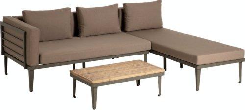 På billedet ser du variationen Pascale, Udendørs loungesæt fra brandet LaForma i en størrelse H: 68 cm. B: 160 cm. L: 180 cm. i farven Grå/natur/brun