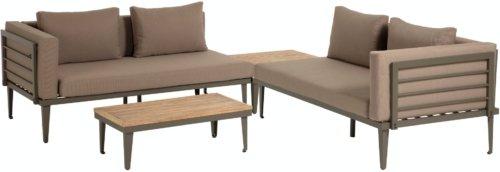På billedet ser du variationen Pascale, Udendørs loungesæt fra brandet LaForma i en størrelse H: 68 cm. B: 160 cm. L: 92 cm. i farven Grå/natur/brun