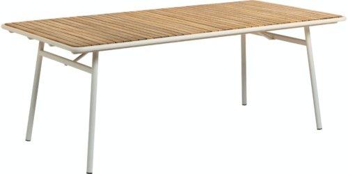 På billedet ser du variationen Robyn, Udendørs spisebord fra brandet LaForma i en størrelse H: 76 cm. B: 160 cm. L: 90 cm. i farven Natur/hvid