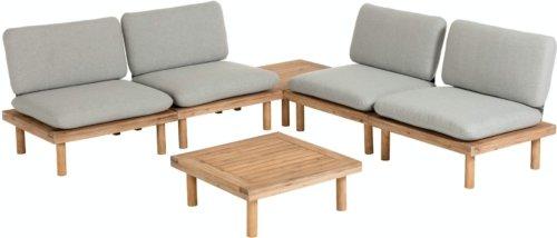 På billedet ser du variationen Viridis, Udendørs loungesæt fra brandet LaForma i en størrelse H: 77 cm. B: 80 cm. L: 70 cm. i farven Grå/natur