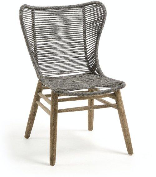 På billedet ser du variationen Zabel, Udendørs spisestol fra brandet LaForma i en størrelse H: 93 cm. B: 62 cm. L: 58 cm. i farven Grå/natur