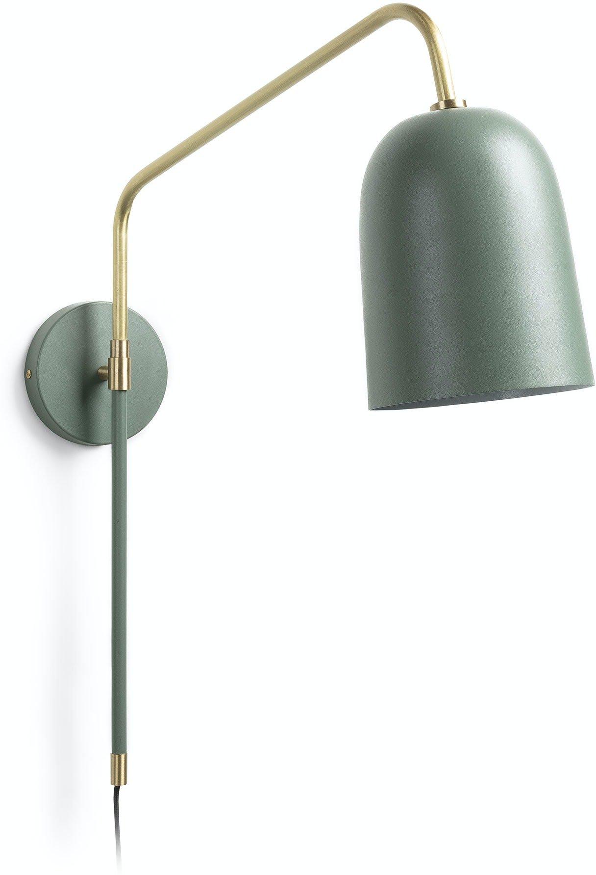 Køb Audrie, Væglampe by LaForma (H: 60 cm. B: 58 cm. L: 15 cm., Grøn/Guld)
