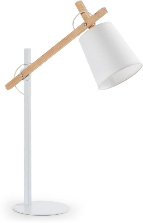 På billedet ser du variationen Kosta, Bordlampe fra brandet LaForma i en størrelse H: 65 cm. B: 50 cm. L: 18 cm. i farven Hvid/natur