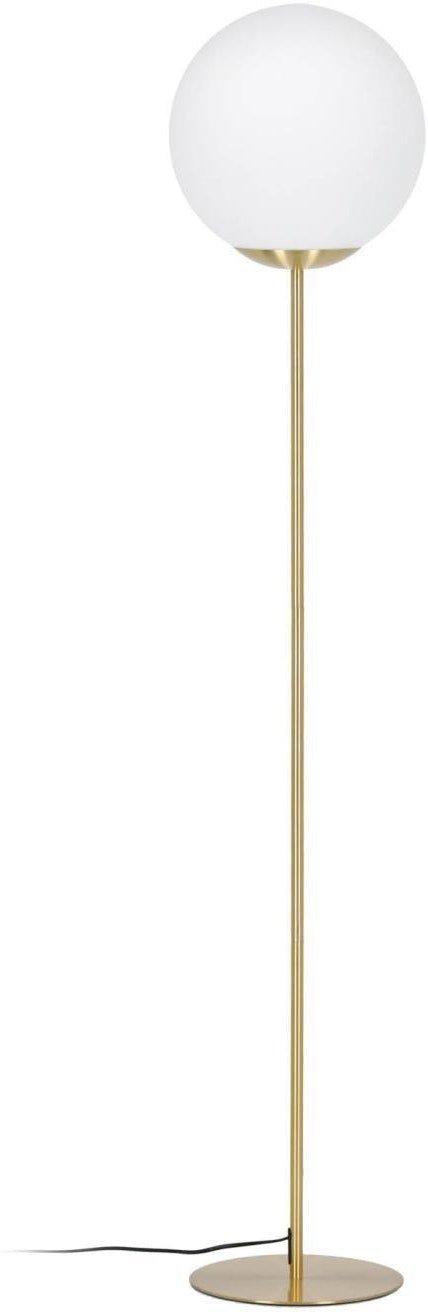 På billedet ser du variationen Mahala, Gulvlampe fra brandet LaForma i en størrelse H: 150 cm. B: 30 cm. L: 30 cm. i farven Hvidt guld