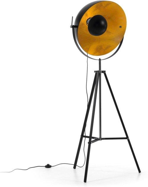 På billedet ser du variationen Rivage, Gulvlampe fra brandet LaForma i en størrelse H: 166 cm. B: 70 cm. L: 55 cm. i farven Sort guld
