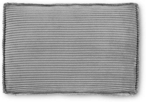 På billedet ser du variationen Blok, Sofa tilbehørspude, Fløjl fra brandet LaForma i en størrelse H: 50 cm. B: 70 cm. L: 15 cm. i farven Grå